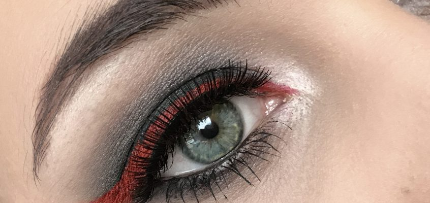 I see red. Kat Von D inspired Look of the Day.
