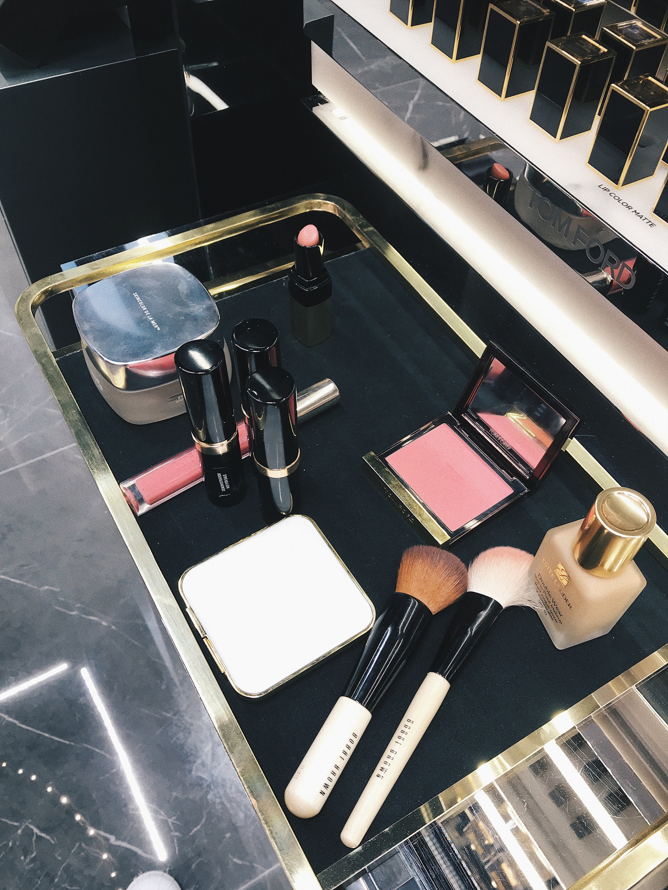 bobbi brown, tom ford, estee lauder
