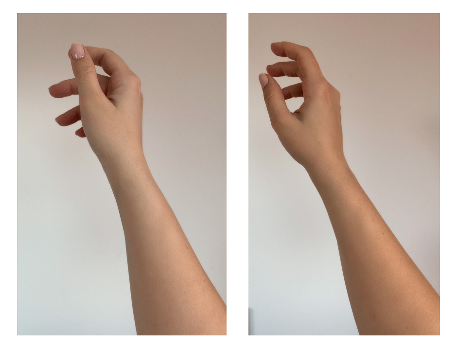 Преди и един час след нанасянето на  Delicious Self Tanning Cream от Clarins