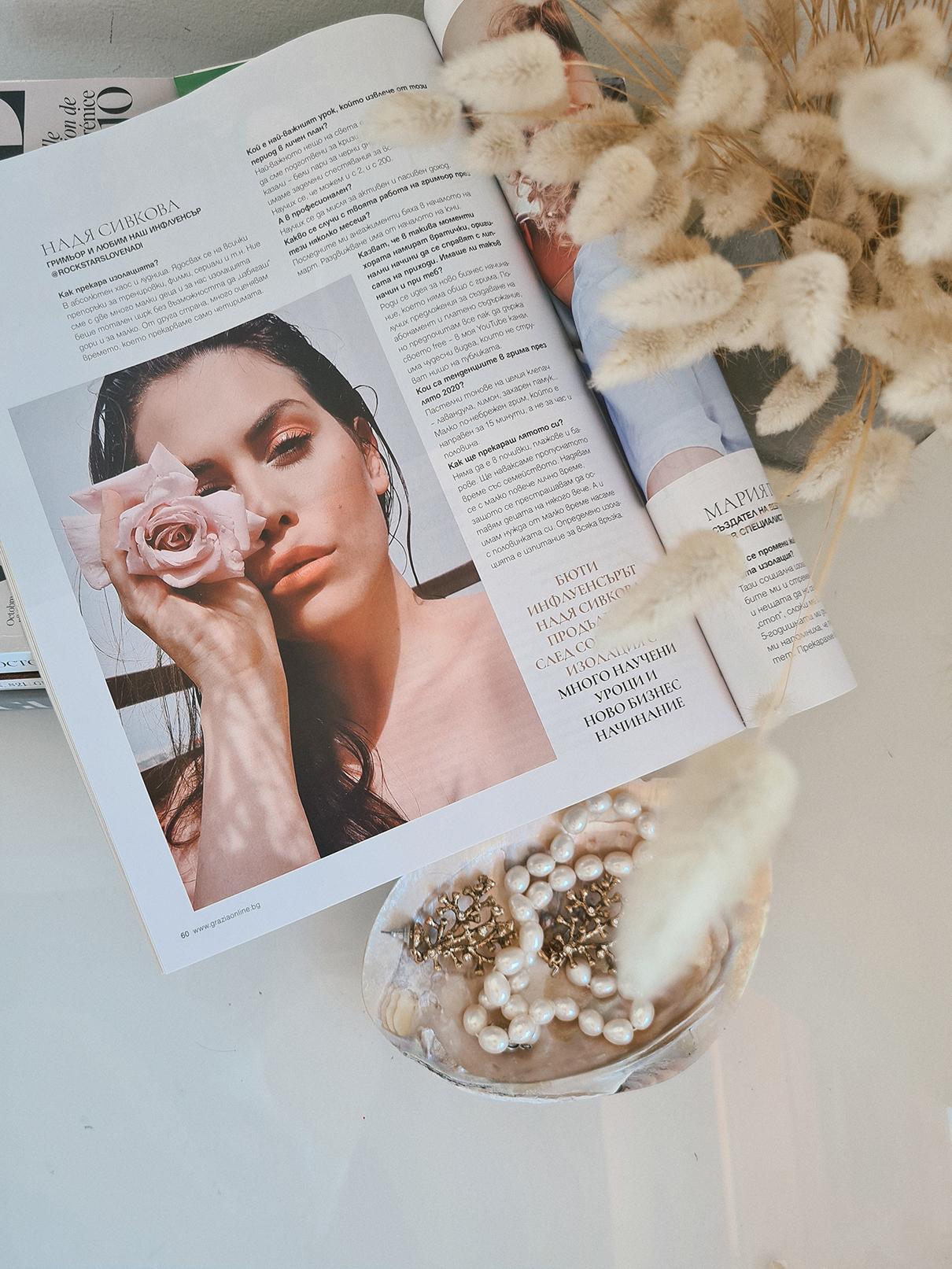 Nadya Sivkova Надя Сивкова Grazia Magazine