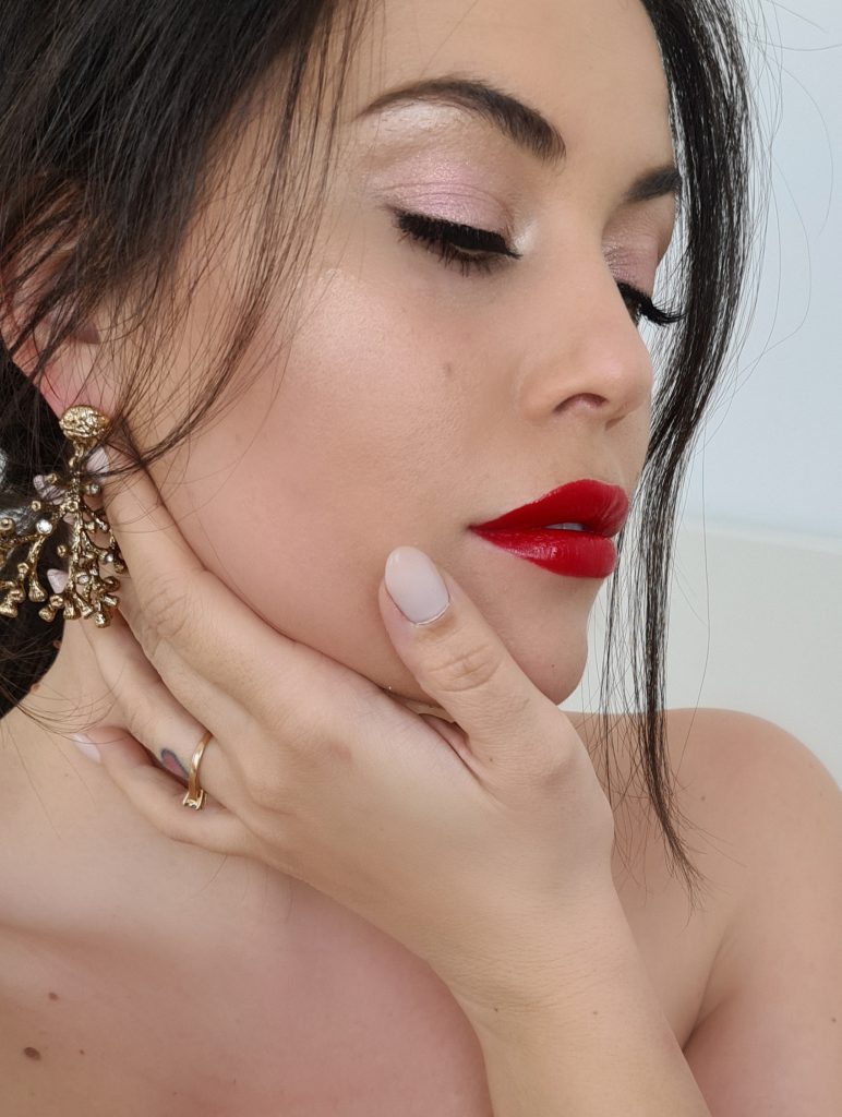 Jimmy Choo Seduction lipstick Red Carpet swatch